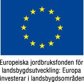 Bild på EU flagga. Europeiska jordbruksfonden för landsbygdsutveckling.