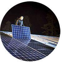 Högeffektiva solpaneler hos Skellefteå Kraft