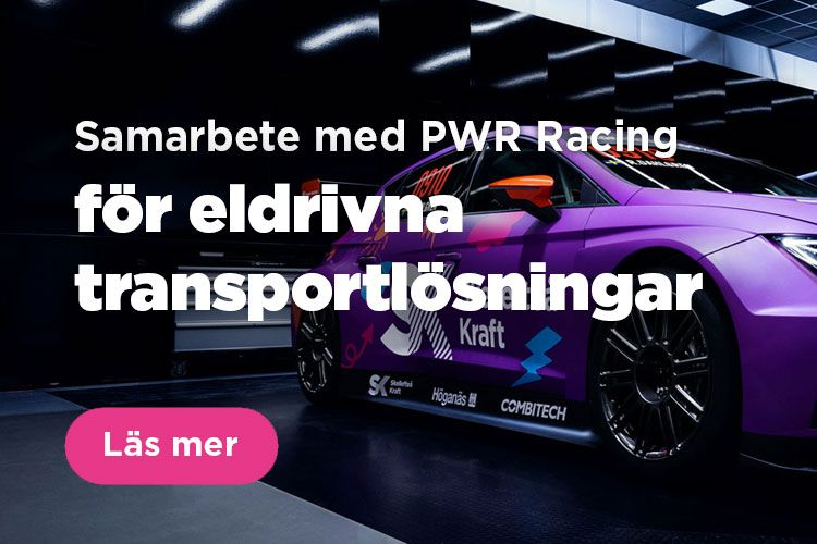 Vi samarbetar med PWR Racing och Robert Dahlgren för att hitta eldrivna transportlösningar.