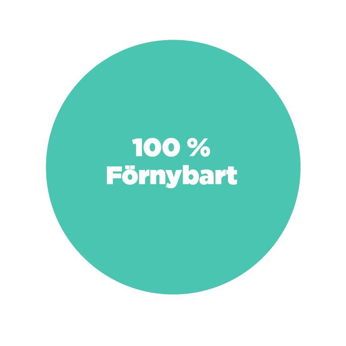Ursprungsmärkning för Skellefteå Kraft - 100 % förnybart