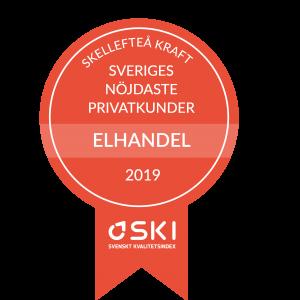 Första plats i kategorin Elhandel privat - Kunderna ger Skellefteå Kraft toppbetyg i ny SKI-mätning