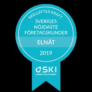 Första plats i kategorin Elnät företag - Kunderna ger Skellefteå Kraft toppbetyg i ny SKI-mätning