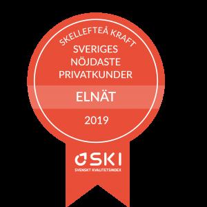 Första plats i kategorin Elnät privat - Kunderna ger Skellefteå Kraft toppbetyg i ny SKI-mätning