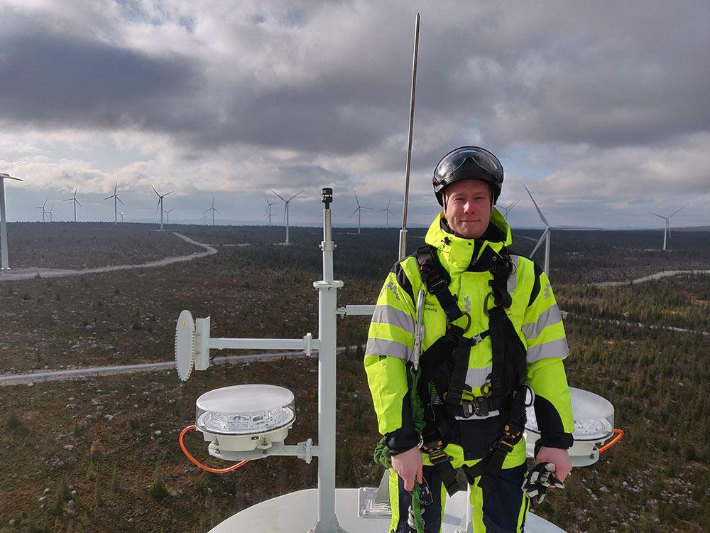 Simon Lindberg, trainee på Skellefteå Kraft