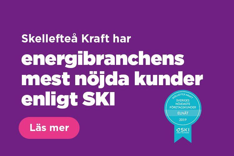 Skellefteå Kraft har energibranschens mest nöjda kunder enligt SKI