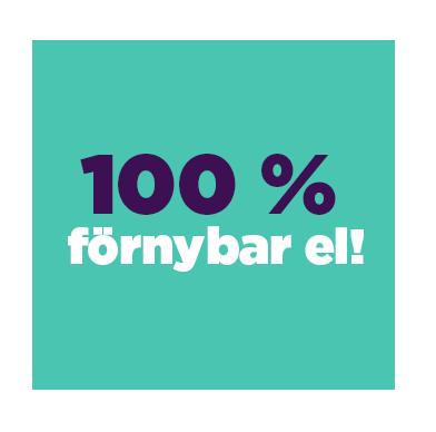 Hos Skellefteå Kraft får du 100 % förnybar el. Helt enkelt ursprungsmärkt el