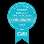 Skellefteå Kraft har Sveriges mest nöjda kunder i kategorin Fjärrvärme företag