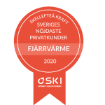 Skellefteå Kraft har Sveriges mest nöjda kunder i kategorin Fjärrvärme privat